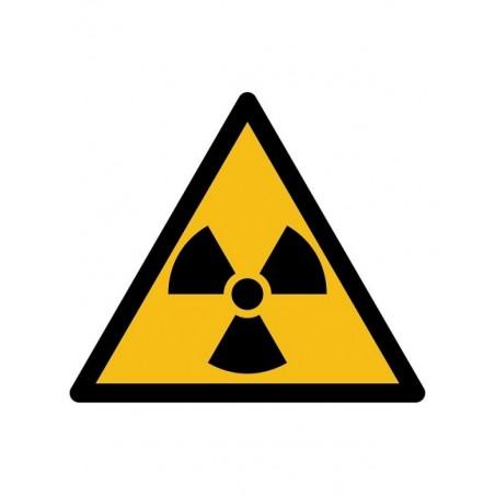 """Pictogramsticker """"Radioactieve Straling"""""""