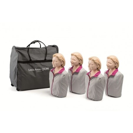 Laerdal Little Anne QCPR 4pack reanimatiepop, met lichte huid